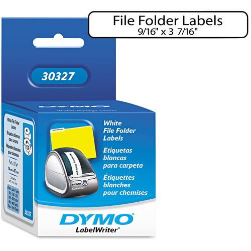 """Dymo White 9/16"""" x 3-7/16"""" File Folder Labels"""