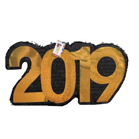 APINATA4U 2019 New Year's Pinata Black & Gold - New Year's Colors