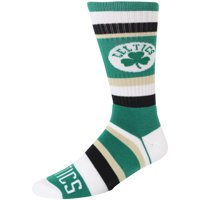 Boston Celtics For Bare Feet Rainbow Stripe Tri-Blend Crew Socks - L