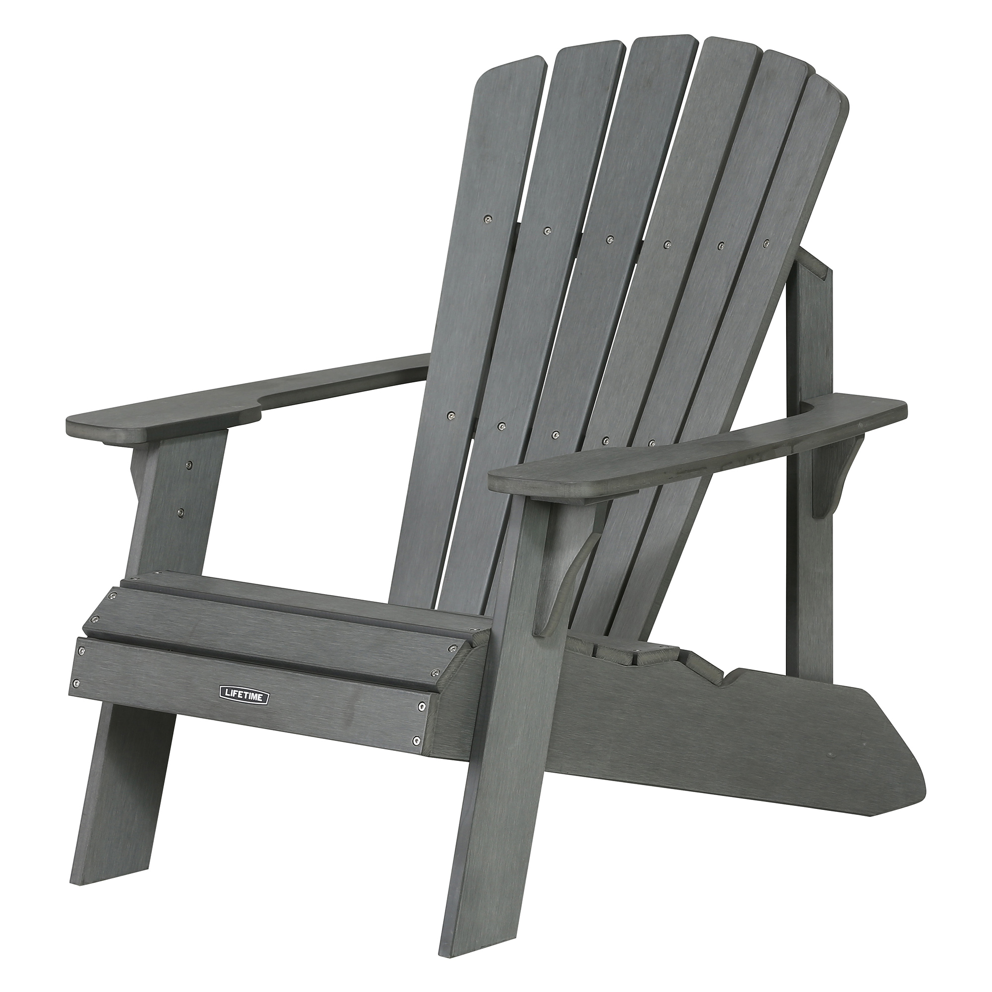 Lifetime Adirondack Chair, Gray, 60204 by Lifetime Products