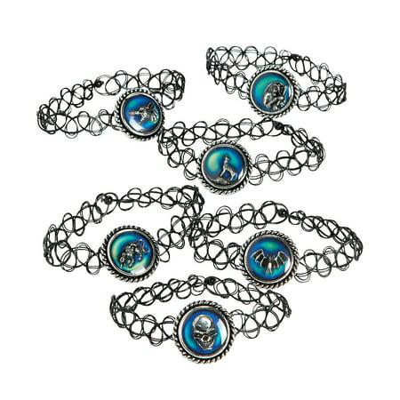 Horror Mood Bracelets - Jewelry - Bracelets - Novelty Bracelets - 6 Pieces (Jewelry Sports Novelty)