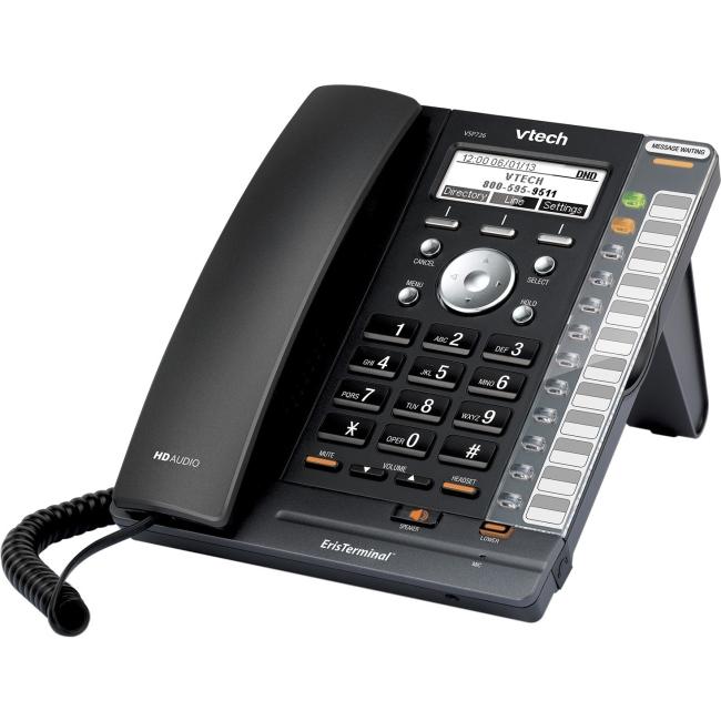 Vtech VSP726 Deskset Phone for ErisTerminal w/4 SIP Accounts & Call Transfer