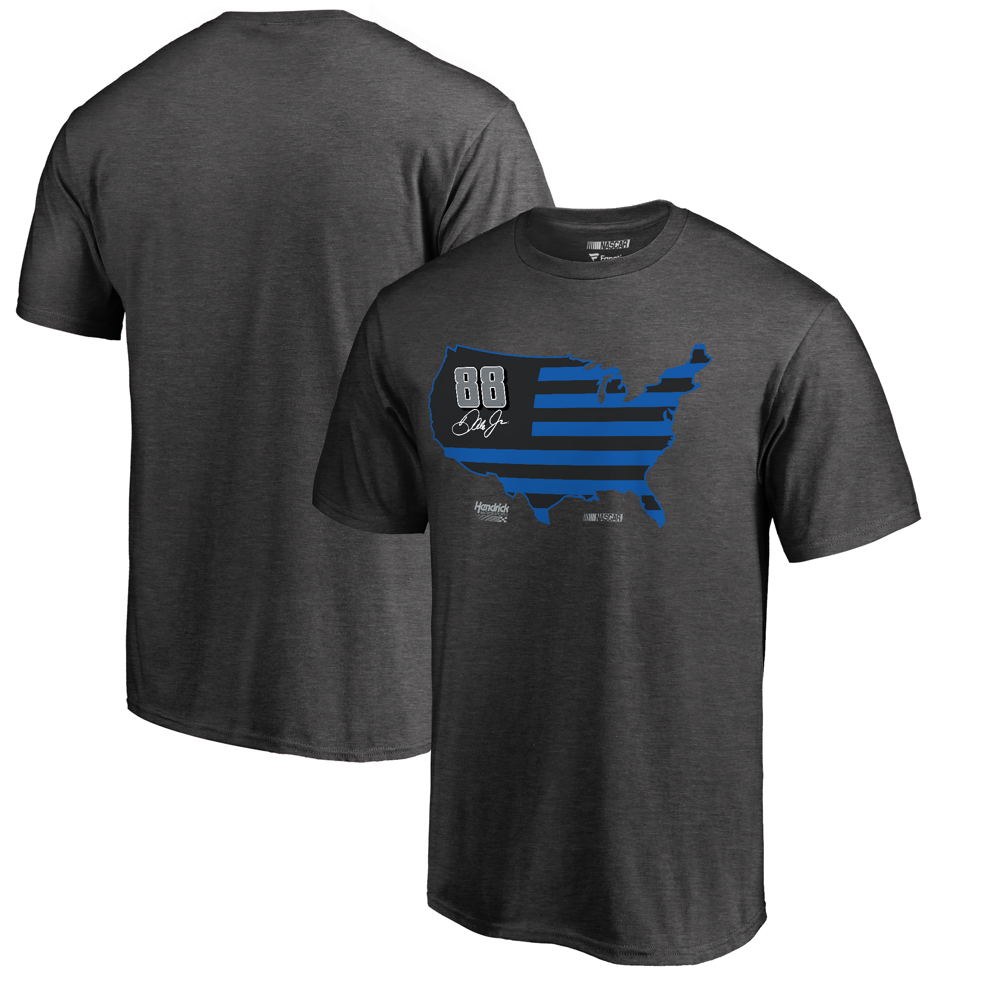 Dale Earnhardt Jr. Fanatics Branded Fan Nation T-Shirt - Heather Gray