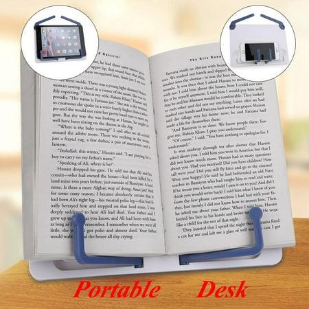 Knifun  Portable Desk Adjustable Music Book Stand Table Desktop Holder Traning Tackle,Desk Music Stand, Plastic Music Stand