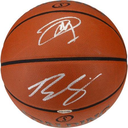 Joel Embiid, Ben Simmons Philadelphia 76ers Dual-Signed Indoor/Outdoor Basketball - Fanatics Authentic Certified