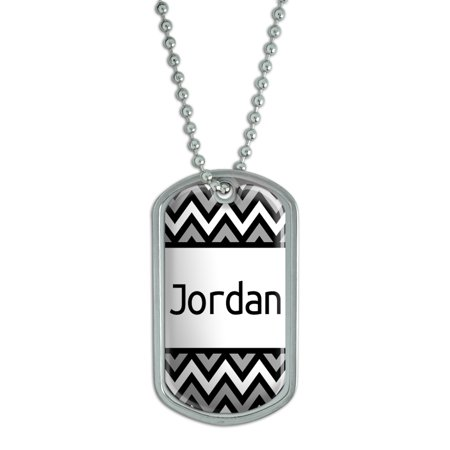 Male Names - Jordan - Dog Tag