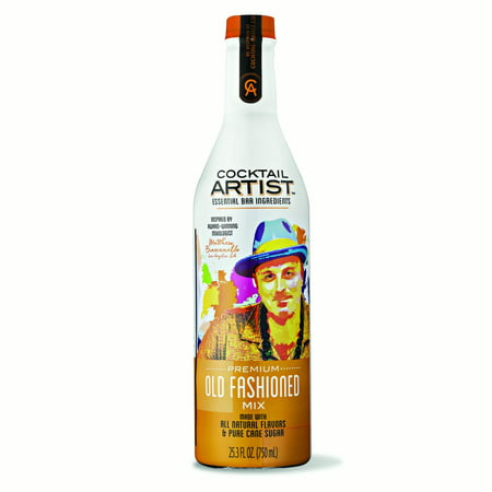 (2 Pack) Cocktail Artist Essential Bar Ingredients Premium Old Fashioned Mix, 25.3 fl oz ()