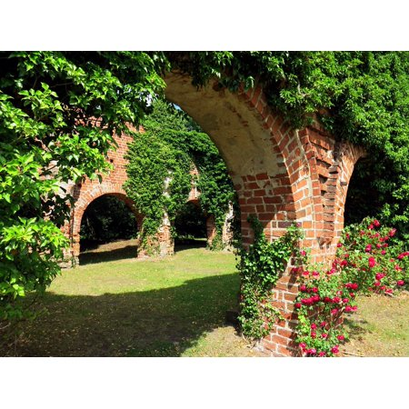 Framed Art for Your Wall Monastery Archway Heaven's Gate Ruin Masonry Brick 10x13 Frame