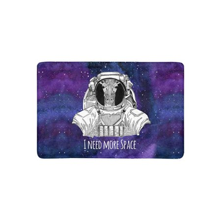 MKHERT Animal Astronaut Giraffe in Space Suit Nebula Galaxy Space with Stars Doormat Rug Home Decor Floor Mat Bath Mat 23.6x15.7 inch](Giraffe Suit)