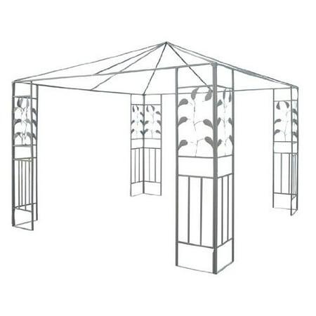 Outsunny 10\' x 10\' Steel Gazebo Frame - Leaf Design - Walmart.com
