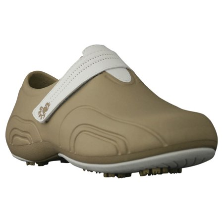USA Dawgs WUG6304 DAWGS Womens Ultralite Golf Shoes - Tan-White - Size 10