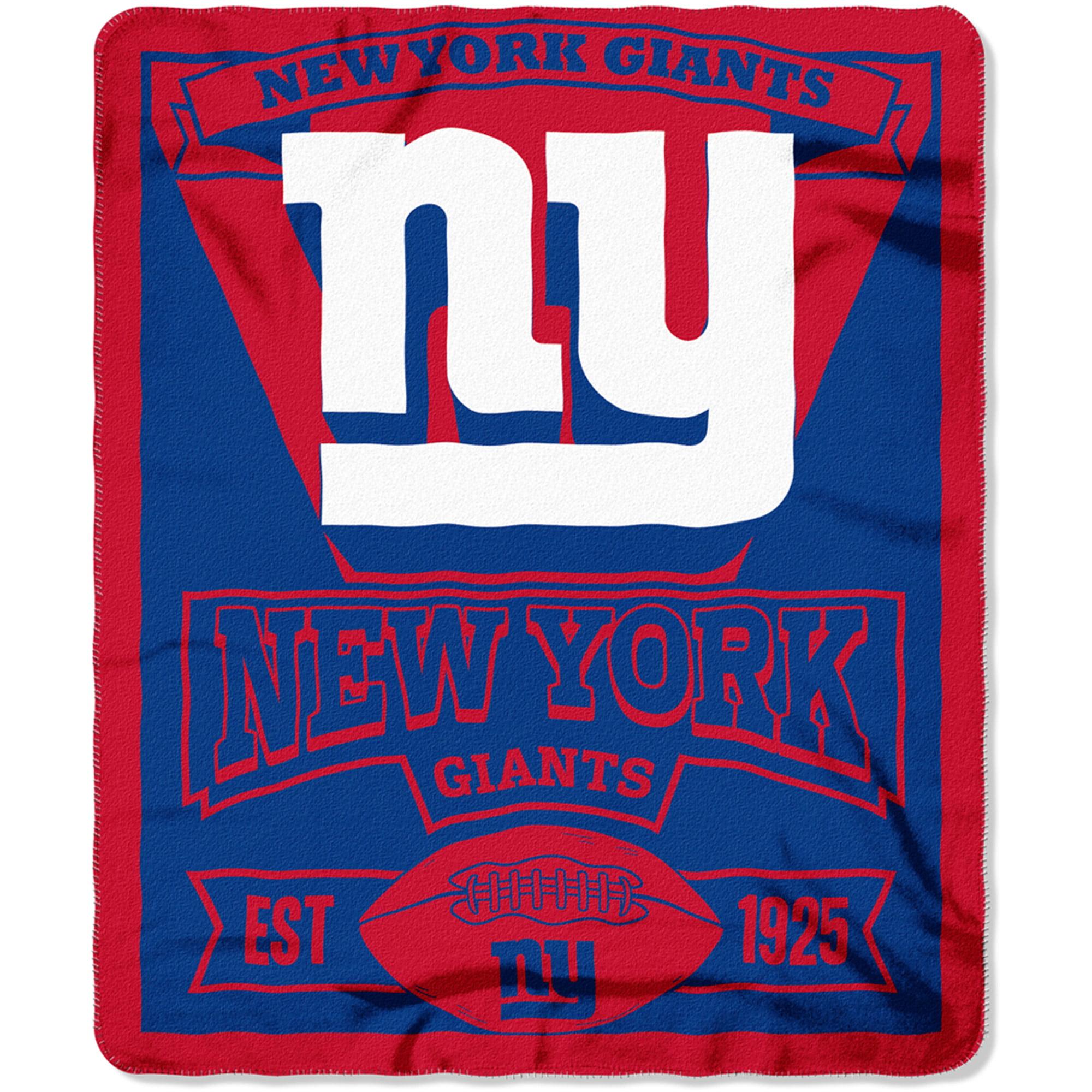 """NFL New York Giants 50"""" x 60"""" Fleece Throw"""