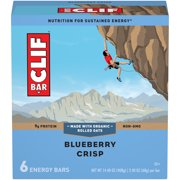 CLIF Bar Energy Bars, Blueberry Crisp, 9g Protein Bar, 6 Ct, 2.4 oz