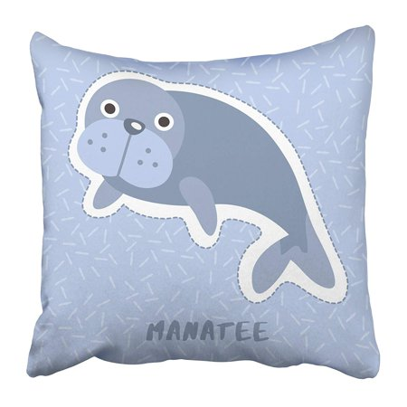 ARHOME Colorful Adorable Manatee Cute Animal Alphabet Baby Cartoon Character Child Drawing Pillow Case Cushion Cover 20x20 inch](Baby Anime Characters)