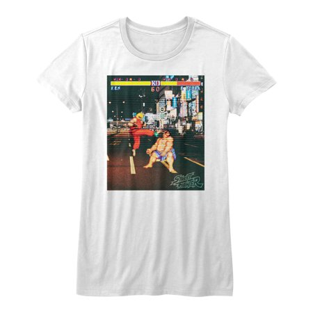 Street Fighter Video Martial Arts Arcade Game Kick Scene Juniors T-Shirt Tee - image 1 de 1