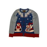 Ugly Christmas Sweater Women's Polar Bear In Snow Xmas Cardigan Sweatshirt-Medium