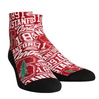 Stanford Cardinal Rock Em Socks Women's Logo Sketch Quarter Socks - S/M