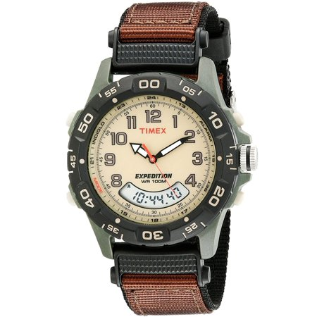 036e6ed16 Timex - T45181 Expedition Resin Combo Analog/Digital Display Quartz Watch,  Brown Nylon Band, Round 39mm Case - Walmart.com