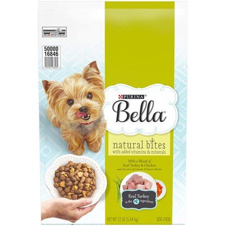 Bella Natural Bites with Real Chicken & Turkey Adult Dry Dog Food, 12 lb  Bag Pack of 2 Total of 24 (Best Dog Foods On The Market)