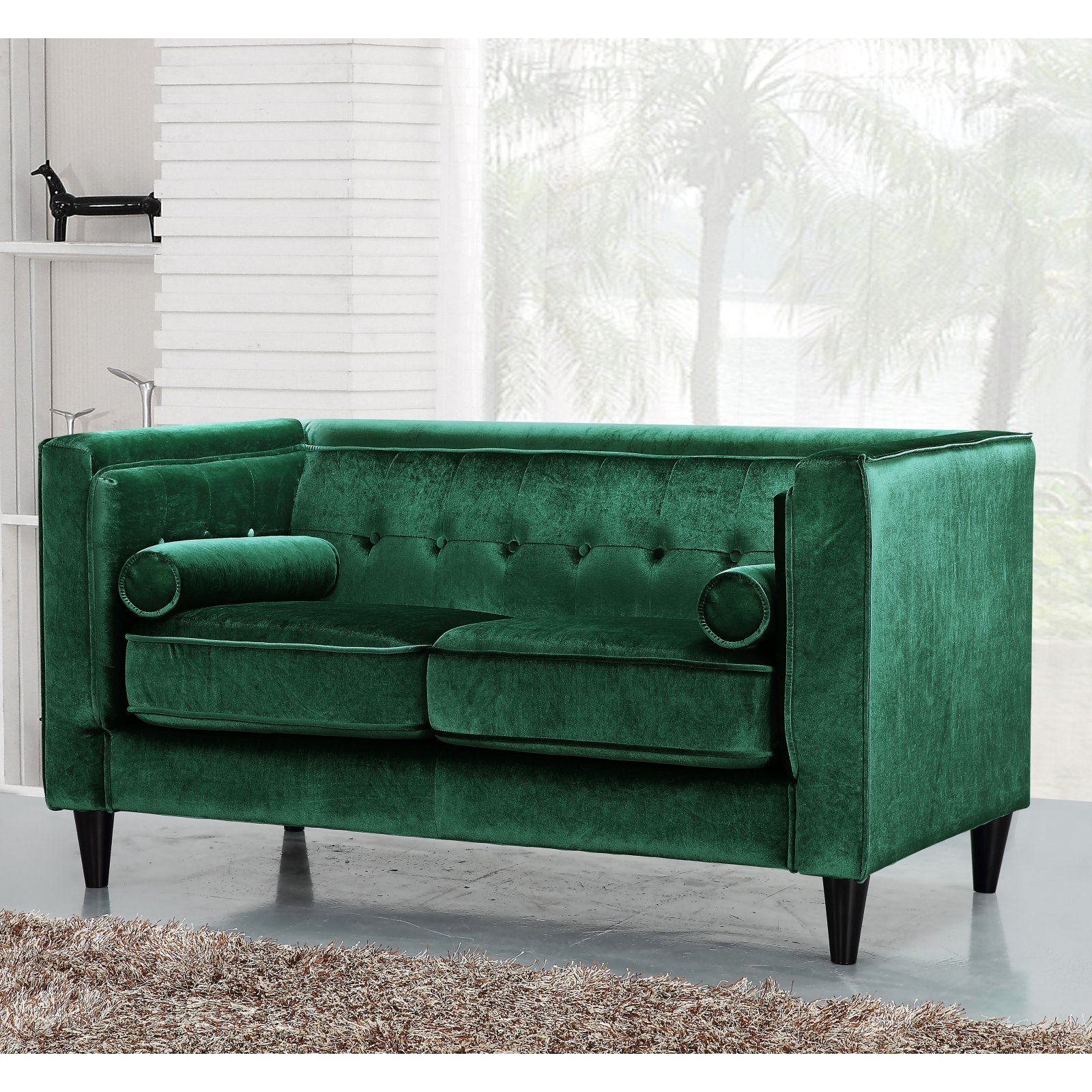 Meridian Furniture Inc Taylor Loveseat with Accent Pillows