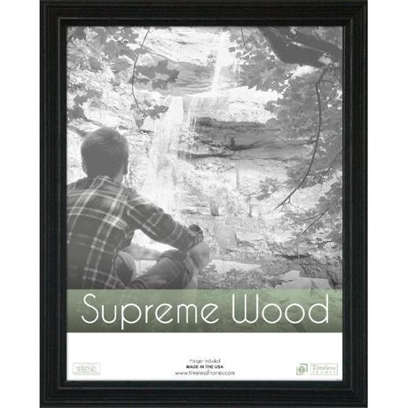 Timeless Frames 42446 Supreme Woods Black Wall Frame, 11 x 14 in.