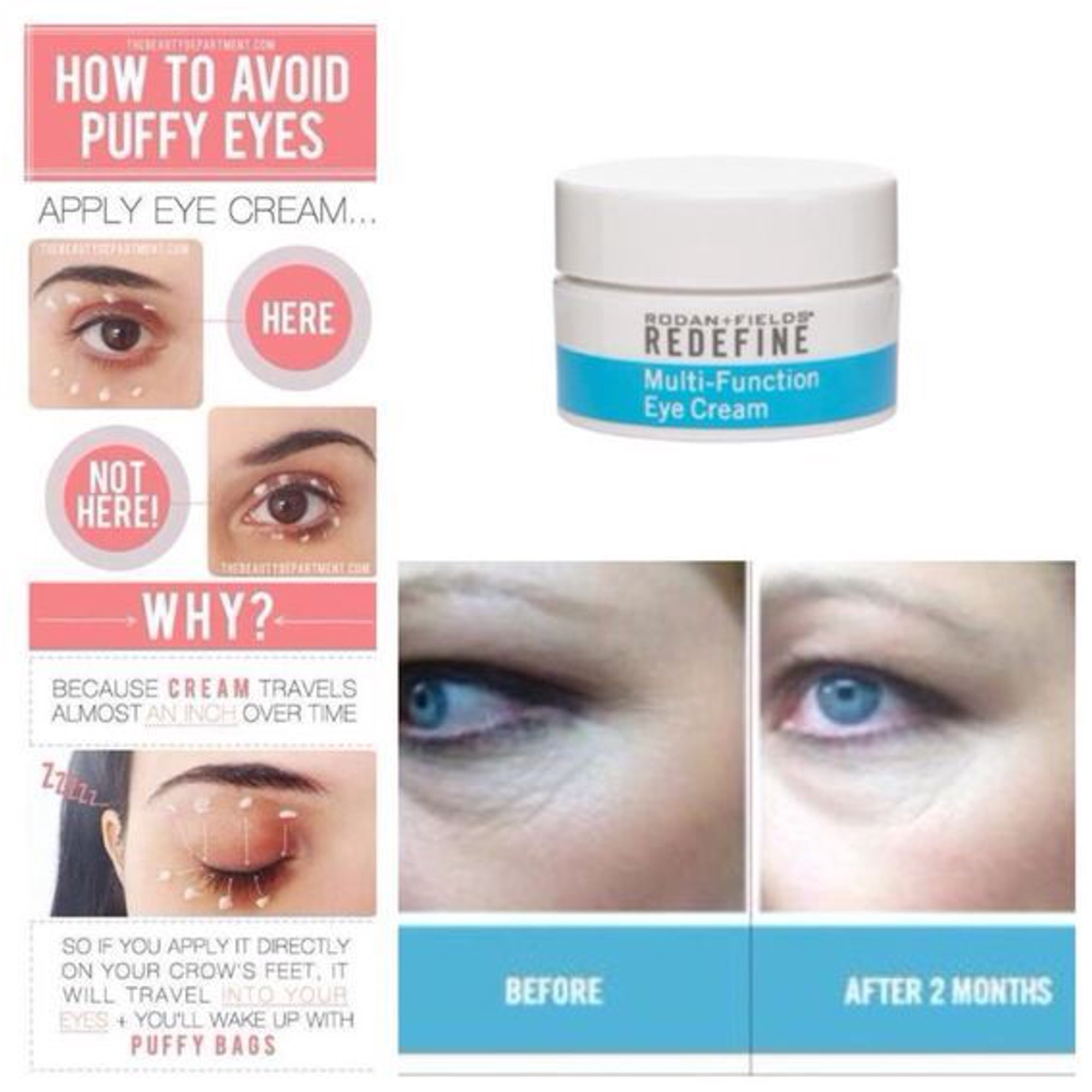 Rodan And Fields Multi Function Eye Cream Redefine 15ml 0 5 Fl Oz