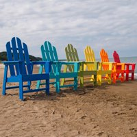 Recycled Plastic Long Island Adirondack Dining Chair