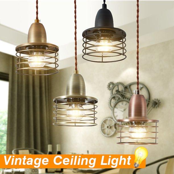 E26 E27 Vintage Retro Ceiling Lamp Loft