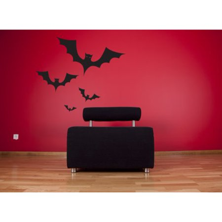 Halloween Bats Wall Decal - Wall Sticker, Vinyl Wall Art, Home Decor, Wall Mural - W5014 - White, 16in x 10in - Halloween Home Decor Walmart