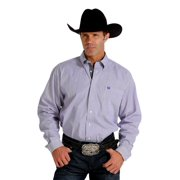 Cinch Western Shirt Mens Long Sleeve Button Stripe Purple MTW1104299