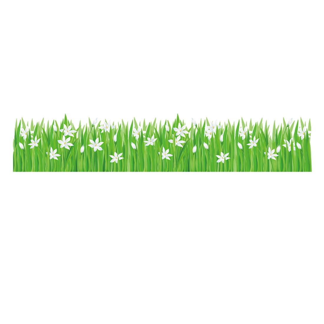 Home PVC Grass Flower Prints DIY Ornament Wall Sticker Decal Mural 50 x 70cm