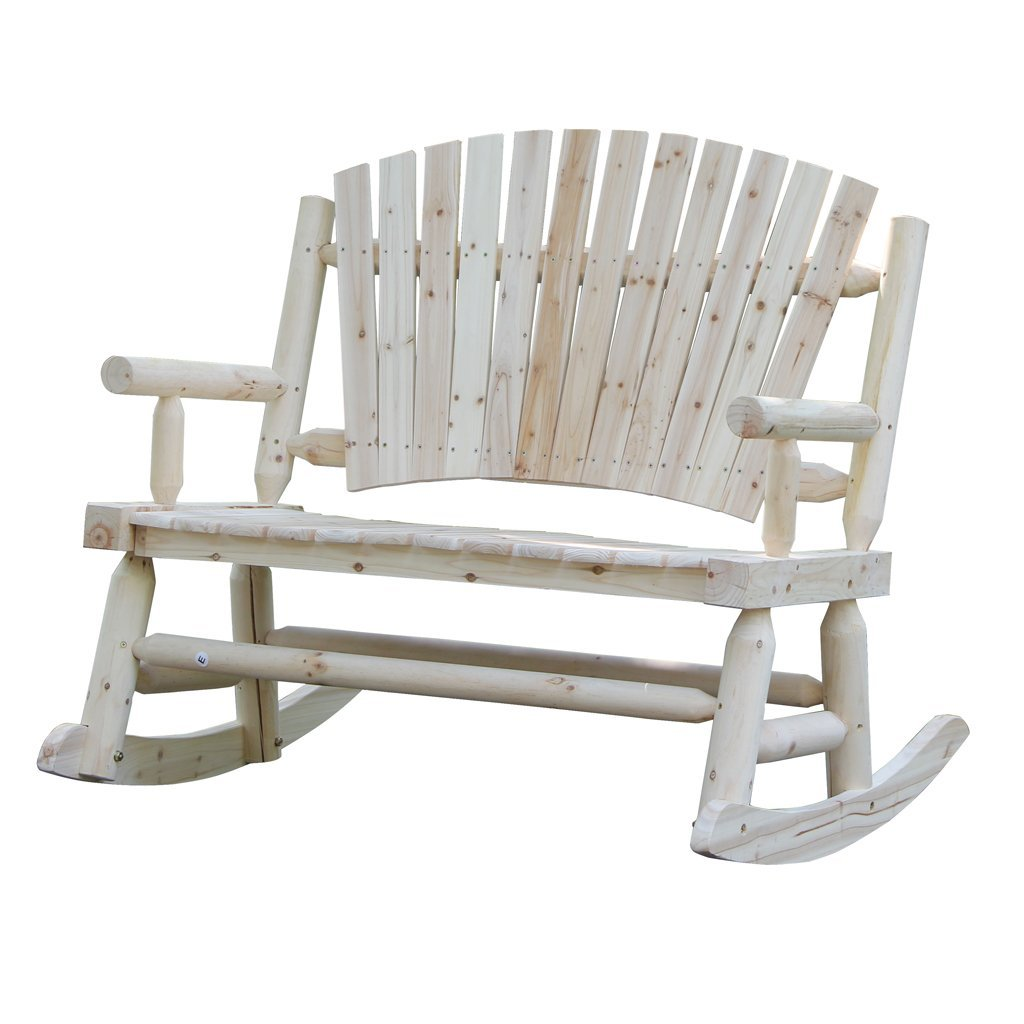 Wooden Rocking Chair With Fan Back Country Coaster Style For Garden