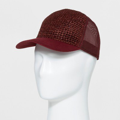 5950ca28ad3 Men s Brick House Straw Twill Mesh Baseball Hat - Goodfellow   Co™ Red ...