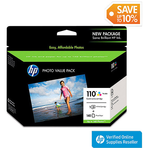 HP 110 Tri-Color Ink Cartridge Photo Value Pack (Q8700BN#140)