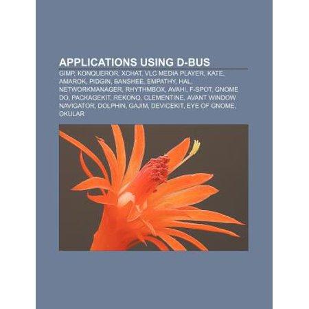 Applications Using D Bus  Gimp  Konqueror  Xchat  Vlc Media Player  Kate  Amarok  Pidgin  Banshee  Rhythmbox  Networkmanager  Hal  Avahi
