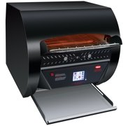 """Hatco TQ3-2000H Toast Qwik Black Conveyor Toaster with 3"""" Opening and Digital Controls - 240V, 4020W"""