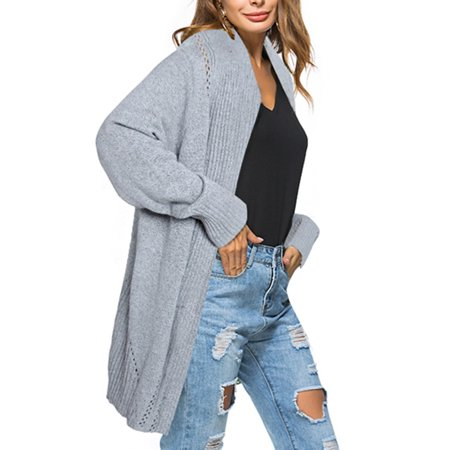 48fa0ea51d bocgsfdfgns - Women s Oversize Sweater Coat Asymmetrical Long Sleeve Top  Casual Open Front Knit Maxi Medium And Long Section Sweater Cardigan  Knitwear ...