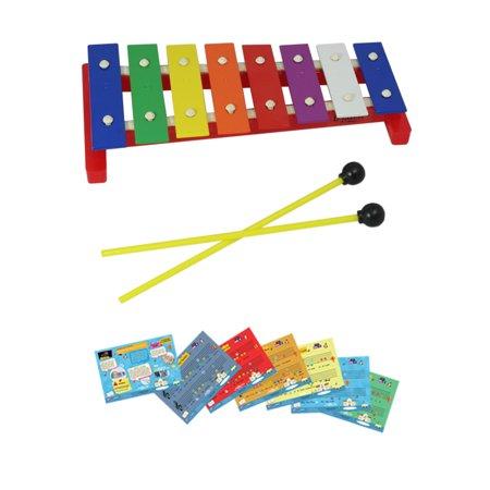 Xylophone Glockenspiels (D'Luca 8 Notes Children Xylophone Glockenspiel with Music)