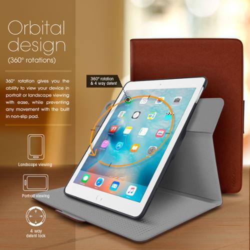 iPad Mini 3 2 1 Case, rooCASE Orb Folio 360 Rotating Leather Case Cover for Apple iPad Mini 3 2 1 with Sleep/Wake Feature