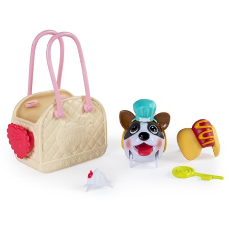Chubby Puppies & Friends, Fashion Set with Carrier,