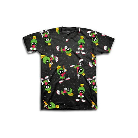 Marvin The Martian Boys Space All Over Print T-Shirt Sizes 8-20