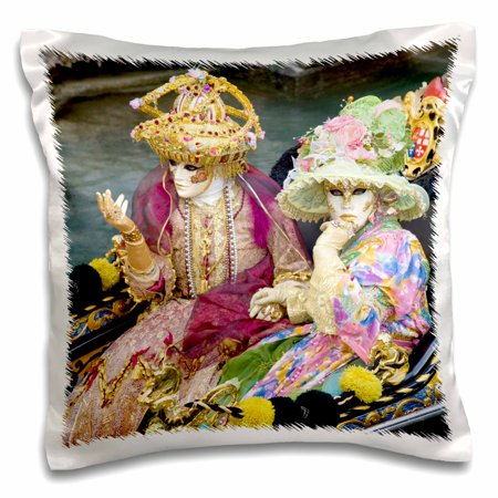 3dRose Italy, Venice, Carnival festival Costumes - EU16 BJA0789 - Jaynes Gallery - Pillow Case, 16 by 16-inch - Italian Festival Decorations