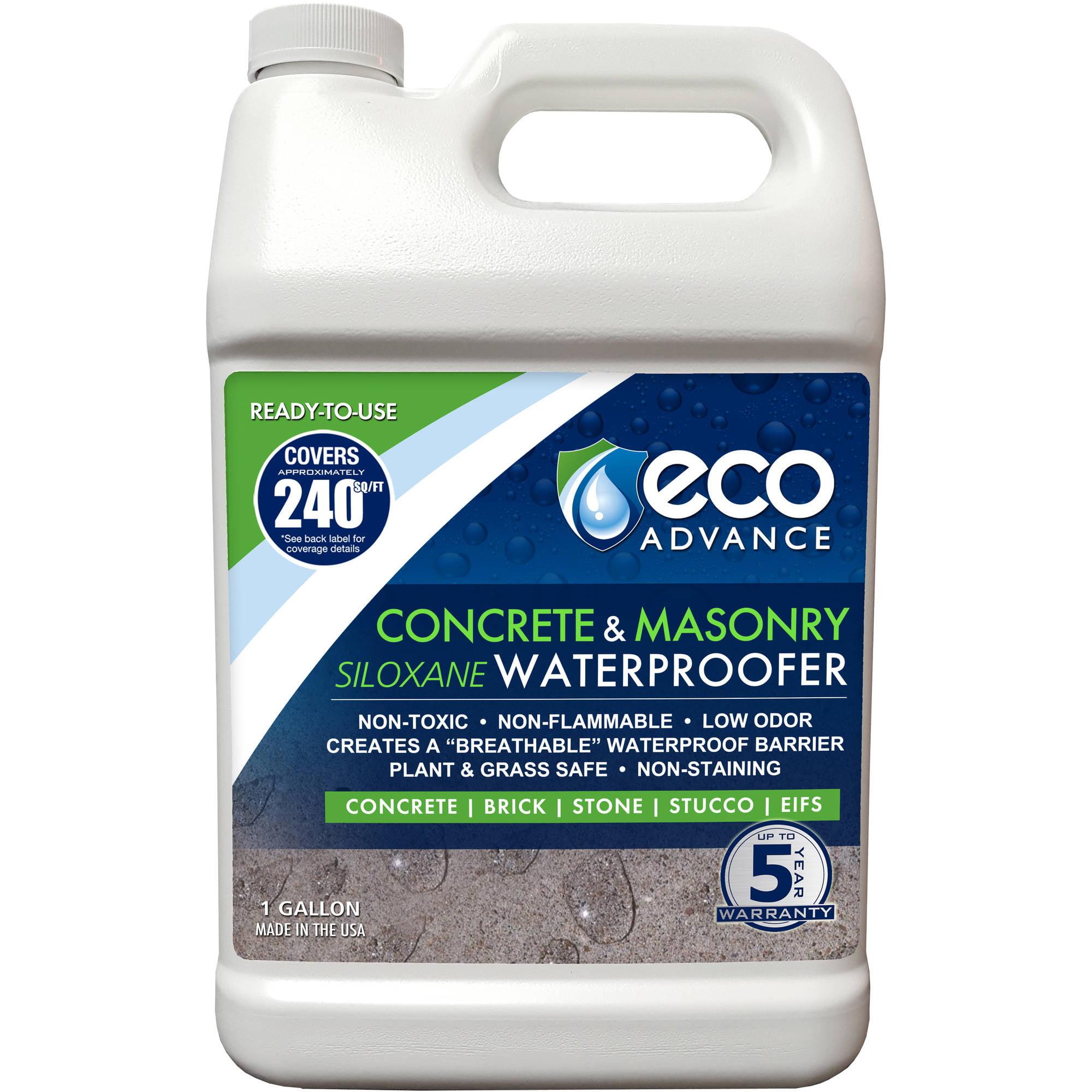 Eco Advance Concrete Masonry Siloxane Waterproofer, Ready-to-Use, 1 Gallon by Eco Advance