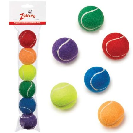 Puppy Pride Mini Tennis Balls Rainbow Colorful 6 Pack Gift Set 2