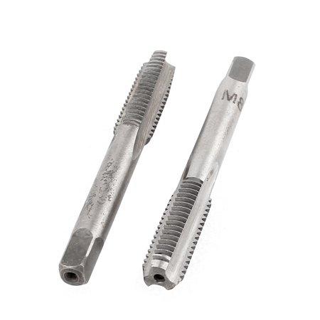 Unique Bargains High Speed Steel 3 Flutes 1.25mm Pitch M8 Metric Thread Plug Taper Tap x2