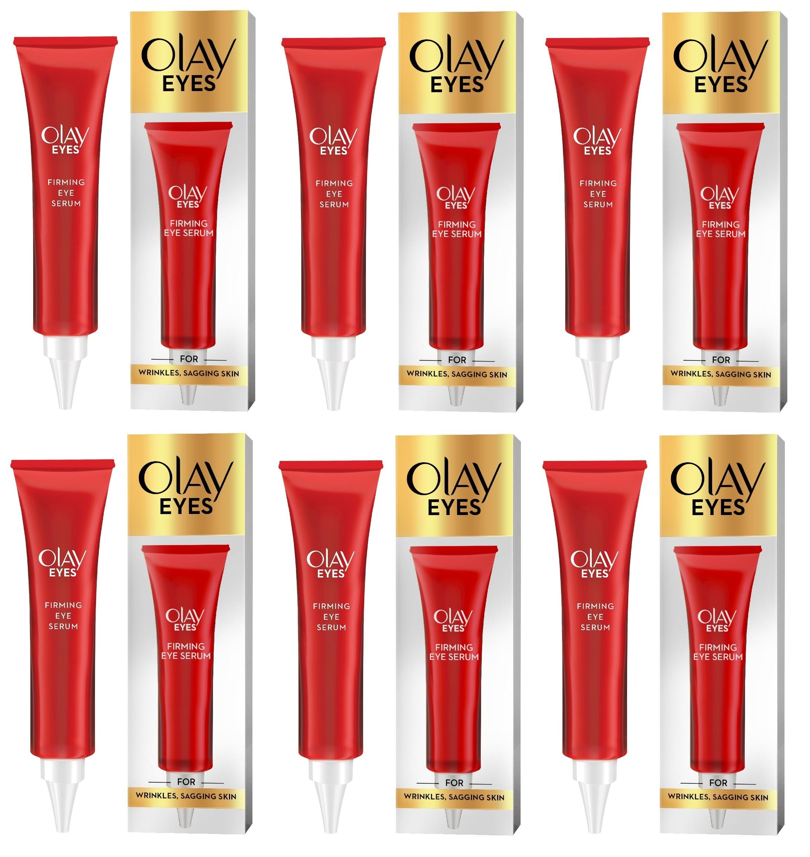 Olay Eyes Firming Eye Serum for Wrinkles and Sagging Skin, 0.5 oz (15 ml) (Pack of 6)