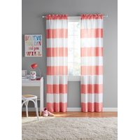 Deals on Your Zone Cabana Stripe Curtain Panel, Set of 2