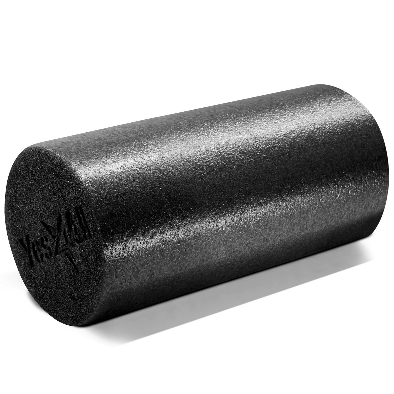 Yes4All 12 inch Foam Roller - Exercise Foam Roller (Black)