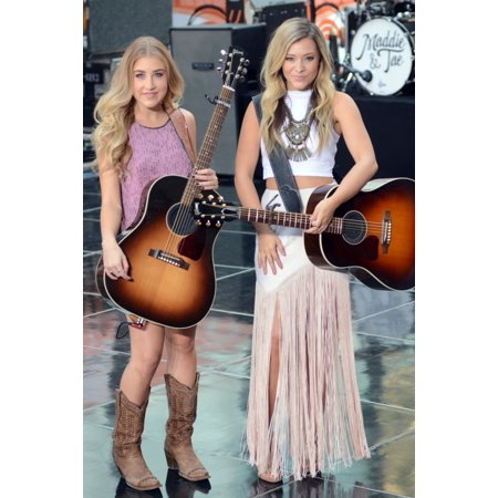 Maddie Marlow Tae Dye On Stage For Nbc Today Show Concert With Maddie And Tae Rockefeller Plaza New York Ny September 1 2015 Photo By Derek StormEverett Collection