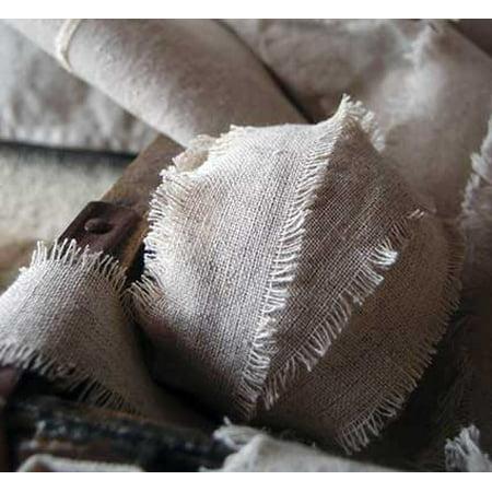Corsage & Bouquet Supplies Linen Ribbon 1 inch wide x 5 yards Natural Linen